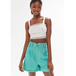 [Urban Outfitters] NWT Linen High-Waisted Shorts
